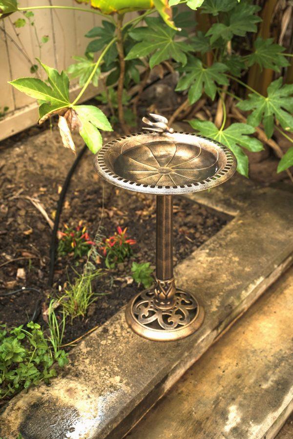 XBrand bronze painted birdbath bb3332bne