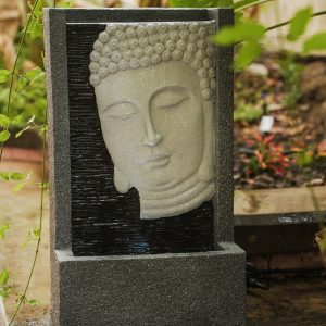 XBrand Grey Buddha Face Water Fountain (BDFTN2314)