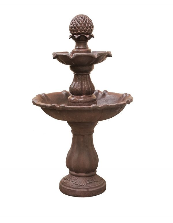 Brown Painted Freestanding Waterfall Fountain (FT973615)