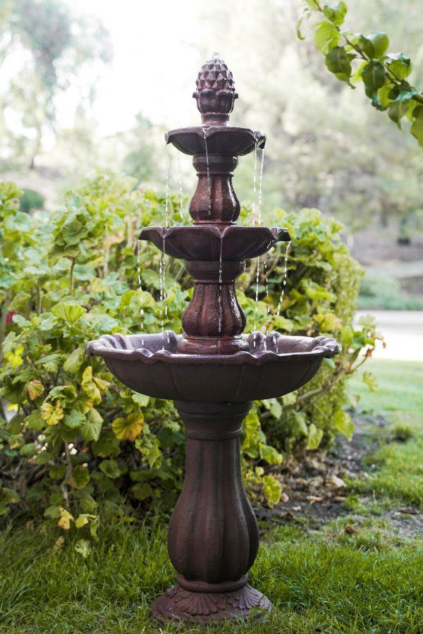XBrand Brown Painted Freestanding Waterfall Fountain (FT973622)
