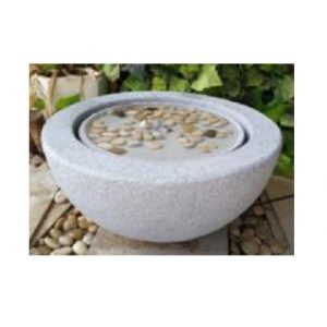 XBrand White Sphere Tabletop Water Fountain (GE2010FTBK)