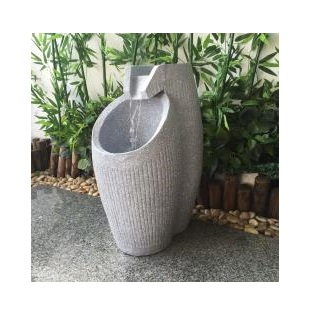 XBrand White Modern Floor Waterfall Fountain (GE2518FTGR)