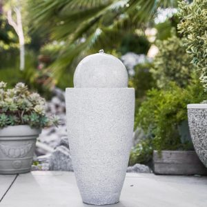 XBrand Grey Round Sphere Water Fountain (GE2612FTGR)