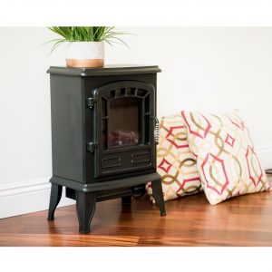 XBrand Black Wired Fire Stove (HT9737SM)