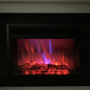XBrand Black Fireplace Heater (HT9738LG)