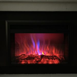 XBrand Black Fireplace Heater (HT9738ME)