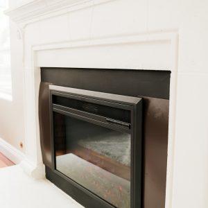 XBrand Black Fireplace Heater (HT9738ME)
