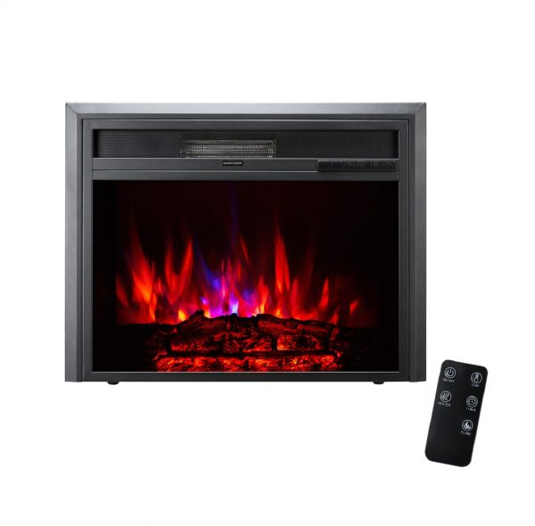 XBrand Black Fireplace Heater 25 Inch (HT9738SM)