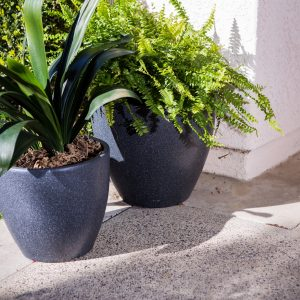 XBrand Modern Nested Flower Pot Planter (PL1515BK)