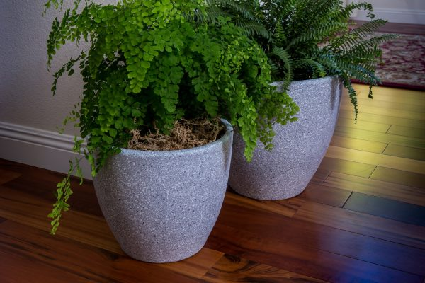 Grey Round Flower Pot Planter (PL1515GR)