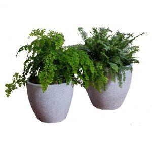 XBrand Grey Round Flower Pot Planter (PL1515GR)