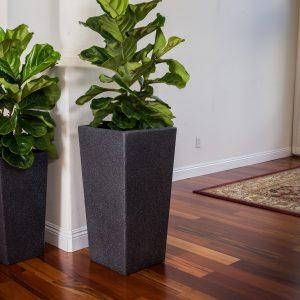 XBrand Black Square Flower Pot Planter (PL2915BK)