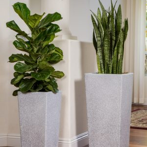 XBrand Grey Square Flower Pot Planter (PL2915GR)