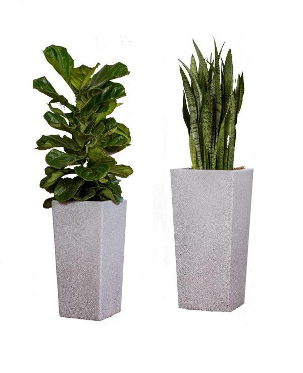XBrand Grey Square Flower Pot Planter (PL2915GR)