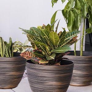 XBrand Bronze Indoor Outdoor Pot Planter (PL3417BNE)