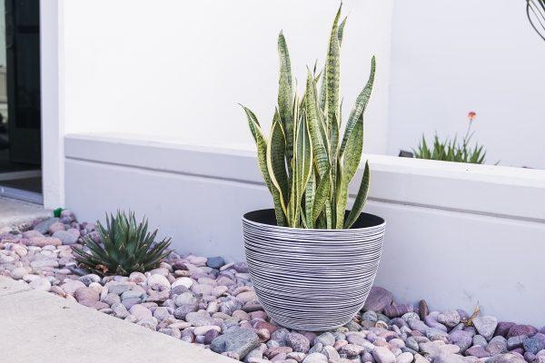 XBrand White Indoor Outdoor Pot Planter (PL3417WT)
