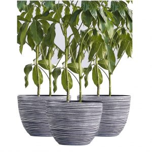 XBrand White Indoor Outdoor Pot Planter (PL3417WT)