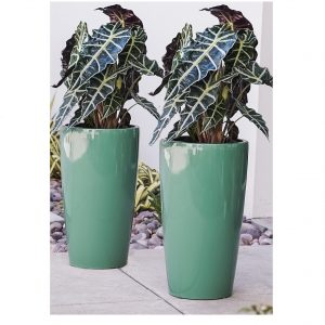 XBrand Turquiose Round Tall Planter Pot (PL3448TUR)