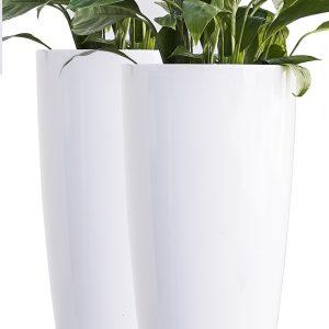 XBrand White Self Watering Planter Pot (PL3448WT)48WT_LS2