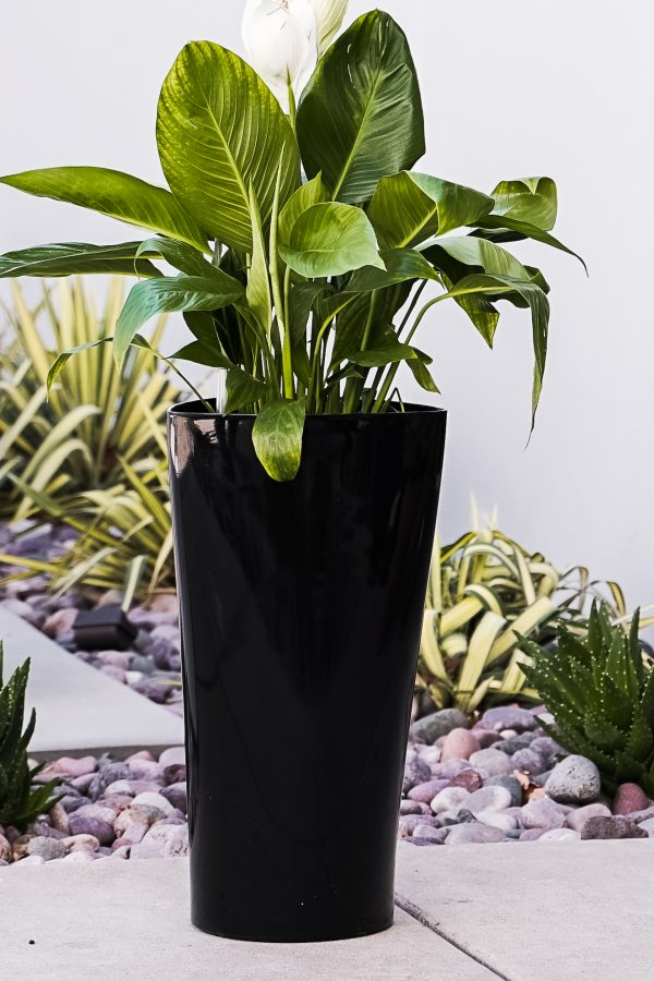 XBrand Black Self Watering Planter Pot (PL3479BK)