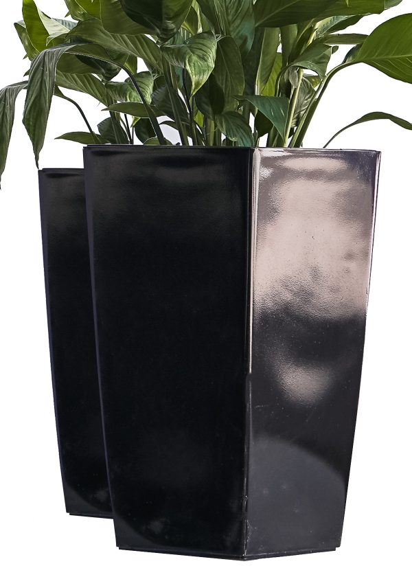 XBrand Black Self Watering Planter Pot (PL3509BK)