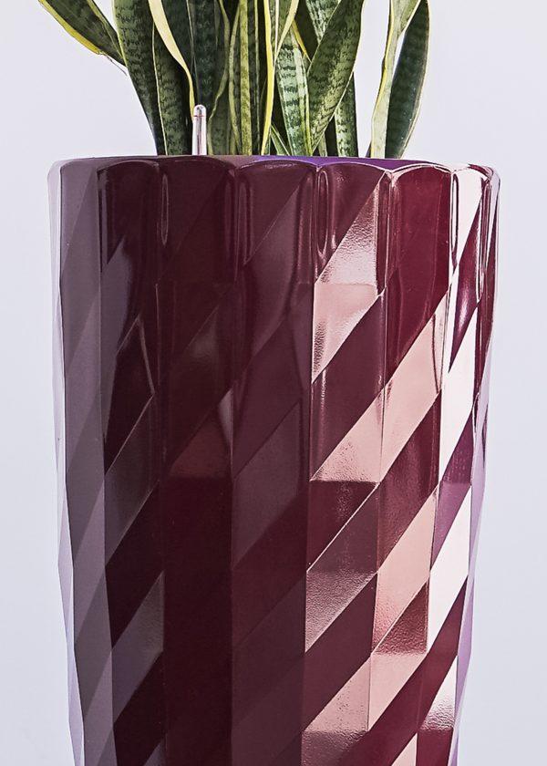 XBrand Red Diamond Look Planter Pot (PL3554RD)