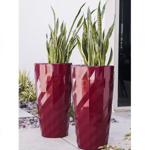 XBrand Red Diamond Look Planter Pot (PL3554RD)