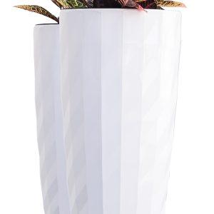 XBrand White Diamond Look Planter Pot (PL3554WT)