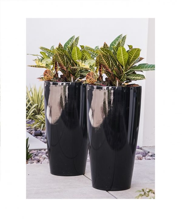 XBrand Black Round Planter Pot (PL3585BK)