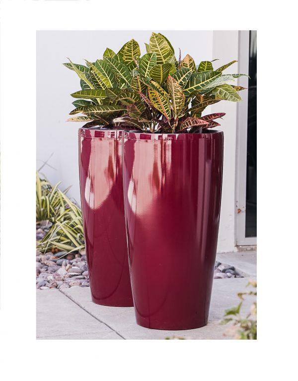 XBrand Red Round Planter Pot (PL3585RD)