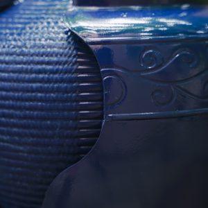 XBrand Blue Round Vase Fountain (PLFT3394BL)