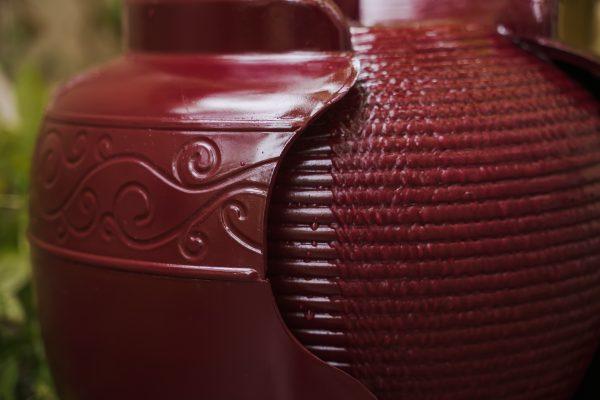 XBrand Red Round Vase Fountain (PLFT3394RD)