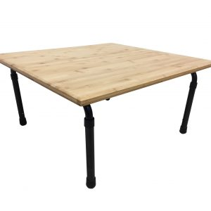 XBrand Brown Bamboo Height Adjustable Table (ZR25BCT)